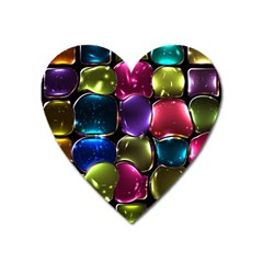 Stained Glass Heart Magnet by BangZart