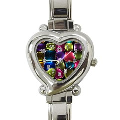 Stained Glass Heart Italian Charm Watch by BangZart