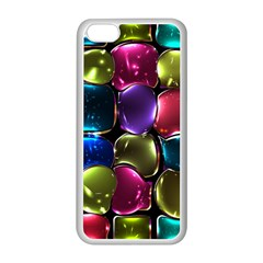 Stained Glass Apple Iphone 5c Seamless Case (white) by BangZart