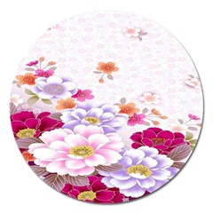 Sweet Flowers Magnet 5  (round) by BangZart