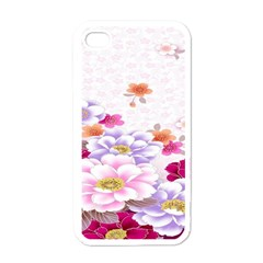 Sweet Flowers Apple Iphone 4 Case (white) by BangZart