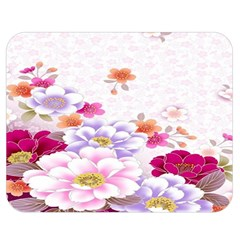 Sweet Flowers Double Sided Flano Blanket (medium)  by BangZart