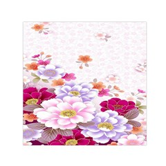 Sweet Flowers Small Satin Scarf (square) by BangZart
