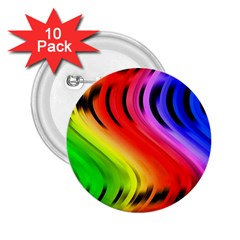 Colorful Vertical Lines 2 25  Buttons (10 Pack)  by BangZart