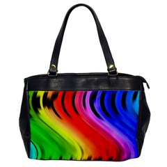 Colorful Vertical Lines Office Handbags by BangZart