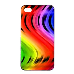 Colorful Vertical Lines Apple Iphone 4/4s Seamless Case (black) by BangZart
