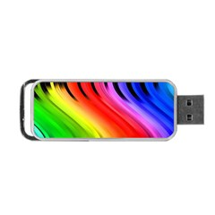 Colorful Vertical Lines Portable Usb Flash (two Sides) by BangZart