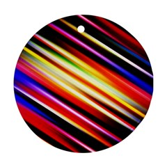 Funky Color Lines Ornament (round) by BangZart