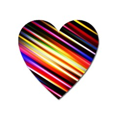Funky Color Lines Heart Magnet by BangZart