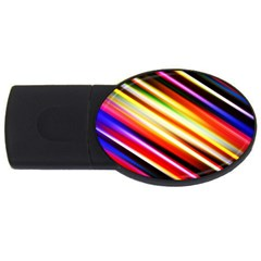 Funky Color Lines Usb Flash Drive Oval (2 Gb) by BangZart