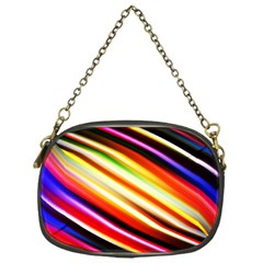 Funky Color Lines Chain Purses (one Side)  by BangZart