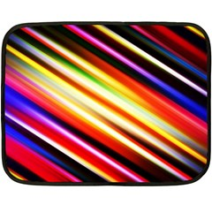 Funky Color Lines Fleece Blanket (mini) by BangZart