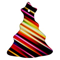 Funky Color Lines Christmas Tree Ornament (two Sides) by BangZart