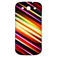 Funky Color Lines Samsung Galaxy S3 S Iii Classic Hardshell Back Case by BangZart
