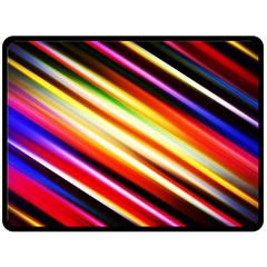 Funky Color Lines Double Sided Fleece Blanket (large)