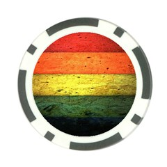 Five Wall Colour Poker Chip Card Guard by BangZart