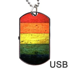 Five Wall Colour Dog Tag Usb Flash (one Side) by BangZart