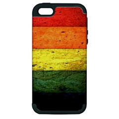 Five Wall Colour Apple Iphone 5 Hardshell Case (pc+silicone) by BangZart