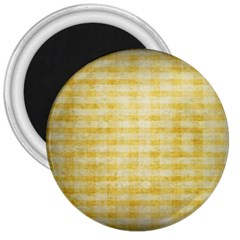 Spring Yellow Gingham 3  Magnets by BangZart