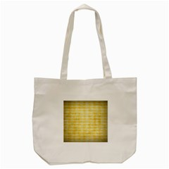 Spring Yellow Gingham Tote Bag (cream) by BangZart