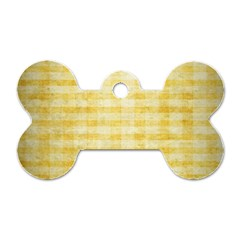 Spring Yellow Gingham Dog Tag Bone (two Sides) by BangZart