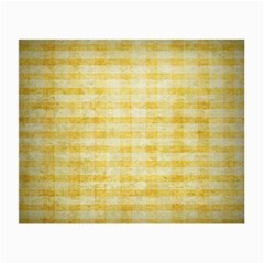 Spring Yellow Gingham Small Glasses Cloth (2 Side) by BangZart