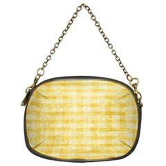 Spring Yellow Gingham Chain Purses (two Sides)  by BangZart