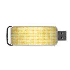 Spring Yellow Gingham Portable Usb Flash (two Sides) by BangZart