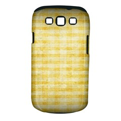 Spring Yellow Gingham Samsung Galaxy S Iii Classic Hardshell Case (pc+silicone) by BangZart