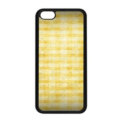 Spring Yellow Gingham Apple Iphone 5c Seamless Case (black) by BangZart