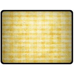 Spring Yellow Gingham Double Sided Fleece Blanket (large)  by BangZart