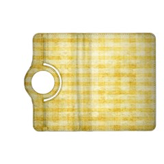 Spring Yellow Gingham Kindle Fire Hd (2013) Flip 360 Case by BangZart
