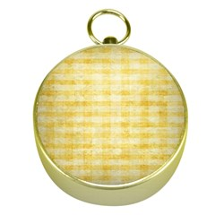 Spring Yellow Gingham Gold Compasses by BangZart