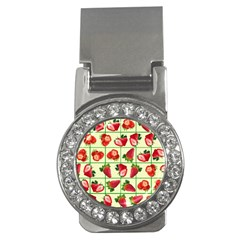 Strawberries Pattern Money Clips (cz)  by SuperPatterns