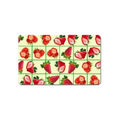 Strawberries Pattern Magnet (name Card) by SuperPatterns