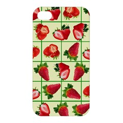 Strawberries Pattern Apple Iphone 4/4s Hardshell Case by SuperPatterns