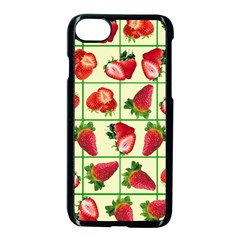 Strawberries Pattern Apple Iphone 7 Seamless Case (black) by SuperPatterns