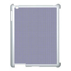 USA Flag Blue and White Gingham Checked Apple iPad 3/4 Case (White) by PodArtist