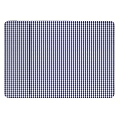 USA Flag Blue and White Gingham Checked Samsung Galaxy Tab 8.9  P7300 Flip Case