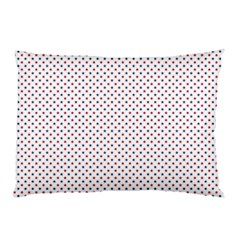 Usa Flag Red And Flag Blue Stars Pillow Case by PodArtist