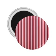 Usa Flag Red And White Stripes 2 25  Magnets by PodArtist