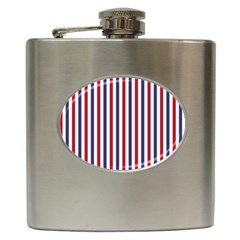 Usa Flag Red White And Flag Blue Wide Stripes Hip Flask (6 Oz) by PodArtist