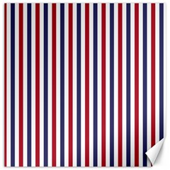 USA Flag Red White and Flag Blue Wide Stripes Canvas 12  x 12   by PodArtist