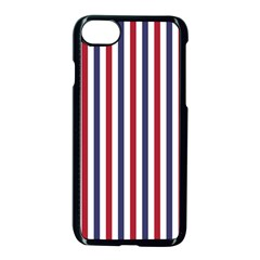 USA Flag Red White and Flag Blue Wide Stripes Apple iPhone 7 Seamless Case (Black) by PodArtist