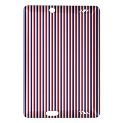 USA Flag Red and Flag Blue Narrow Thin Stripes  Amazon Kindle Fire HD (2013) Hardshell Case