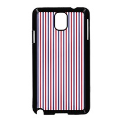 Usa Flag Red And Flag Blue Narrow Thin Stripes  Samsung Galaxy Note 3 Neo Hardshell Case (black) by PodArtist