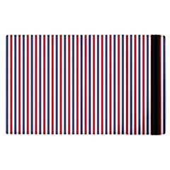 USA Flag Red and Flag Blue Narrow Thin Stripes  Apple iPad Pro 12.9   Flip Case by PodArtist