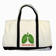 Tobacco Free Zone Two Tone Tote Bag by linceazul