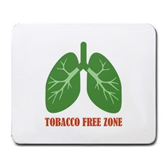 Tobacco Free Zone Large Mousepads by linceazul