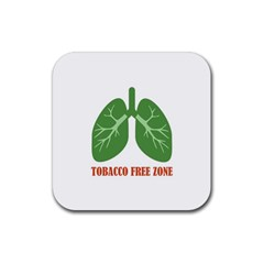 Tobacco Free Zone Rubber Coaster (square)  by linceazul